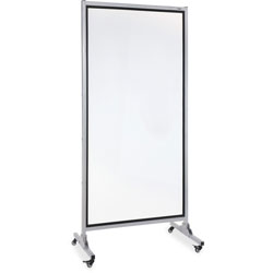 Lorell 2-Sided Dry Erase Easel, 37-1/2 in x 82-1/2 in, Black