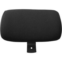 Lorell Optional Headrest, 4 in x 12-1/4 in x 8-3/4 in, Black