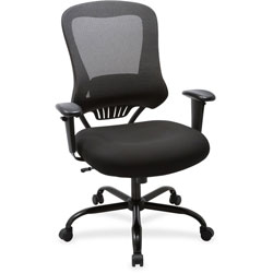 Lorell Mesh Executive Chair, 400lb, 23 in x 30-1/4 in x 46-.-3/4 in, BK