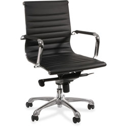 Lorell Modern Mid Back Chair, 25 in x 26 in x 38 in, Black