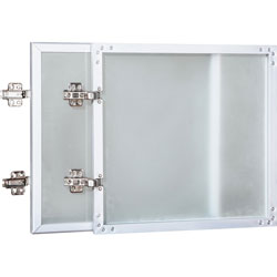 Lorell Hutch Glass Door Kit, 36 in, Frost