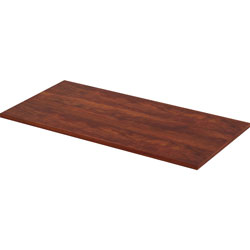 Lorell Height Adjustable Tabletop, 48 in x 24 in, Cherry