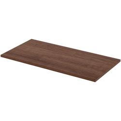 Lorell Height Adjustable Standard Tabletop, 24 in x 48 in, Walnut