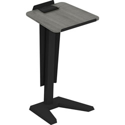 Lorell Lectern with Modesty Panel, 23 in x 20 in x 45 in, Weathered Charcoal