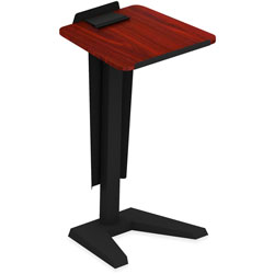 Lorell Lectern with Modesty Panel, 23 in x 20 in x 45 in, Mahogany