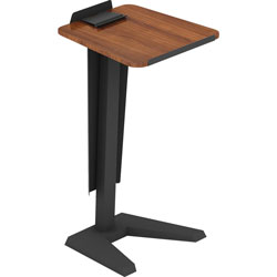 Lorell Lectern with Modesty Panel, 23 in x 20 in x 45 in, Walnut