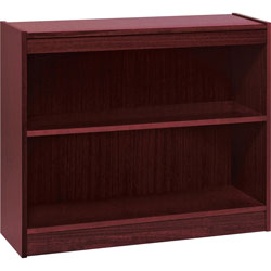"Lorell 1-Shelf Veneer Panel Bookcase, 36""Wx12""Dx30""H, Mahogany"