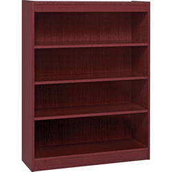 "Lorell 3 Shelf Veneer Panel Bookcase, 36""Wx12""Dx48""H, Mahogany"