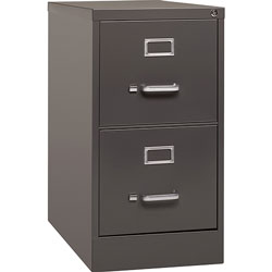 Lorell Vertical File, 2 Drawer, 15 inx26-1/2 inx28-3/8 in, Medium Tone