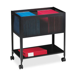 """Lorell File, Mesh Rolling, 4 Casters, 12 1/2""""x25""""x28 1/4"""", Black"""