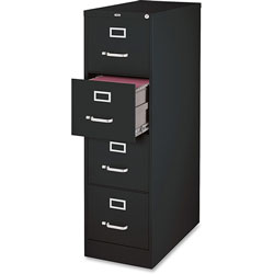 Lorell Vertical File, 4-Drawer, Legal, 18 inx26-1/2 inx52 in, Black