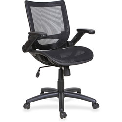 Lorell Mesh Task Chair, 28-1/8 in x 36-3/4 in x 36-5/8 in, Black