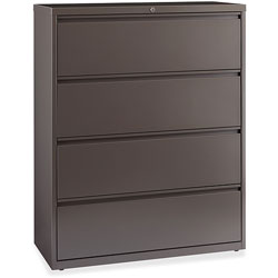 Lorell Lateral File, 4-Drawer, 42 inx18-5/8 inx52-1/2 in, Medium Tone
