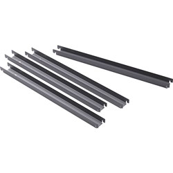 Lorell Front To Back Rail Kit, f/Lateral Files, 4/BX, Black