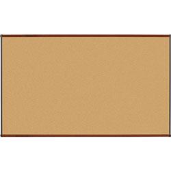 Lorell 6 x 4 Natural Cork Board, Mahogany