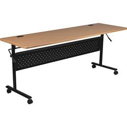 Lorell Flipper Table, 60 inx24 inx29 in, Teak