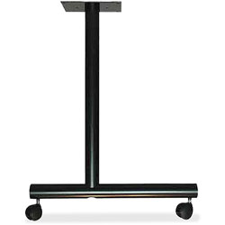 Lorell Training Table Base, 1-1/2 in x 22 in x 27 in, Black