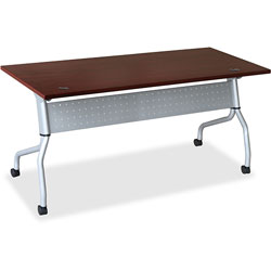 Lorell Training Table, 23-3/5 in x 72 in x 29-1/2 in, Mahogany