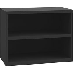 Lorell Open Lateral Credenza, 36 in x 18-3/4 in x 21-7/8 in, Black