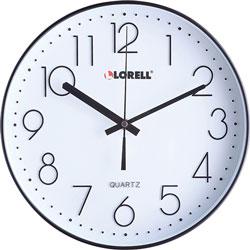 Lorell Clock, Wall, Super Quiet, 12 in, Black