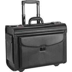 Lorell Rolling Laptop Catalog Case, 16 in, Black