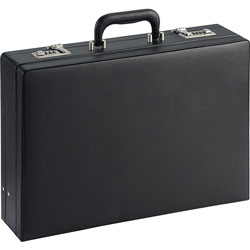 Lorell Expandable Attach Case, 4 in To 5 in, Black