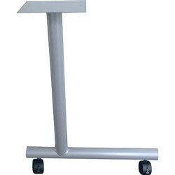 Lorell C-Leg Table Base, w/2 in casters, 1-1/2 inx22 inx27 in, 2/CT, Black