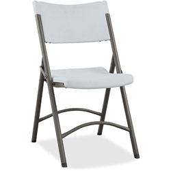 "Lorell Folding Chair, 18-1/2""x21-7/8""x33-1/8"", 4/Carton, Platinum"