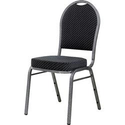 Lorell Carton Stack Chair, 15 inx16 inx37 in, Black/Gray