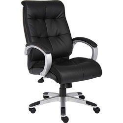 Lorell Executive Chairs, 27 in x 32 in x 44-1/2 in, Base/Arms, Black/Silver