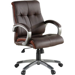Lorell Executive Chair, Low-Back, 27 in x 32 in x 41 in, Base/Arms, BN/PWT