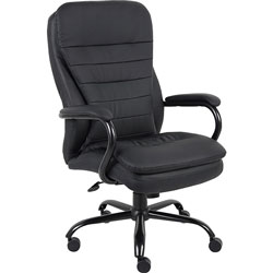 Lorell Executive Chair, Dbl Cushion, 33-1/2 in x 31 in x 45-1/2 in, Black