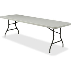 Lorell Light Duty Banquet Table, 600 lb. Capacity,, 96 in x 30 in x 29 in, Platinum/Gray