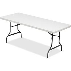 Lorell Light Duty Banquet Table, 600 lb. Capacity, 72 in x 30 in x 29 in, Platinum/Gray