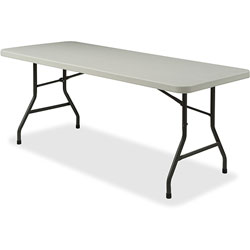 Lorell Light Duty Banquet Table, 600 lb. Capacity, 60 in x 30 in x 29 in, Platinum/Gray