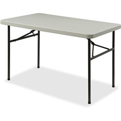 Lorell Light Duty Banquet Table, 450 lb. Capacity, 48 in x 24 in x 29 in, Platinum/Gray