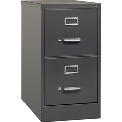 Lorell 2-Door Vertical Cabinet, Letter, 15 in x 26-1/2 in x 28 in, Charcoal