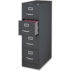 Lorell 4-Door Vertical Cabinet, Letter, 15 in x 26-1/2 in x 52 in, Charcoal