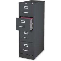 Lorell 4-Door Vertical Cabinet, Letter, 15 in x 26-1/2 in x 52 in, Charcoal