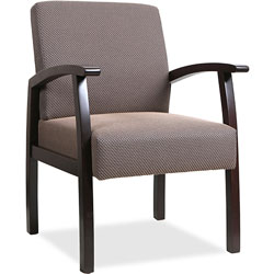 "Lorell Guest Chairs, 24""x25""x35-1/2"", Express/Taupe"
