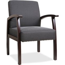 "Lorell Guest Chairs, 24""x25""x35-1/2"", Expresso/Charcoal"
