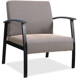 Lorell Guest Big & Tall Chair, Fabric, 24 in x 25 in x 35-35-1/2 in, Taupe
