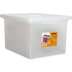 Lorell File Box, Legal/Letter, 13-4/5 in x 19 in x 11 in, Clear