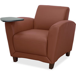 Lorell Tablet Chair, 34-1/2 in x 36 in x 31-1/4 in, Tan