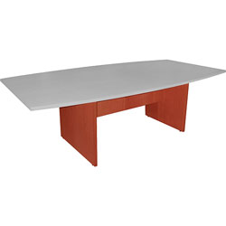 Lorell Conference Table Base 28 inH, w/Modesty Panel, Cherry
