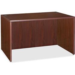 Lorell Essentials Laminate Desk, 47.3 in x 23.6 in x 29.5 in, Mahogany