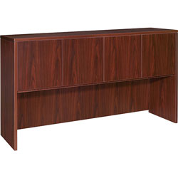 Lorell Hutch w/Doors,66 inx36 inx15 in,Mahogany