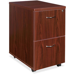 Lorell Mobile Pedestal,File/File,16 inx22 inx28-1/4 in,Mahogany
