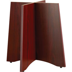 Lorell Laminate Base,for 42 in or 48 inTabletops,42 inD,Mahogany