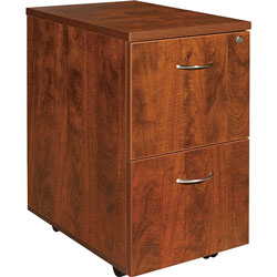 Lorell Mobile Pedestal,File/File,16 inx22 inx28-1/4 in,Cherry